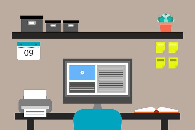 kancelář ilustrace